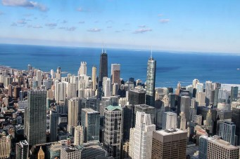 Chicago Skydeck view